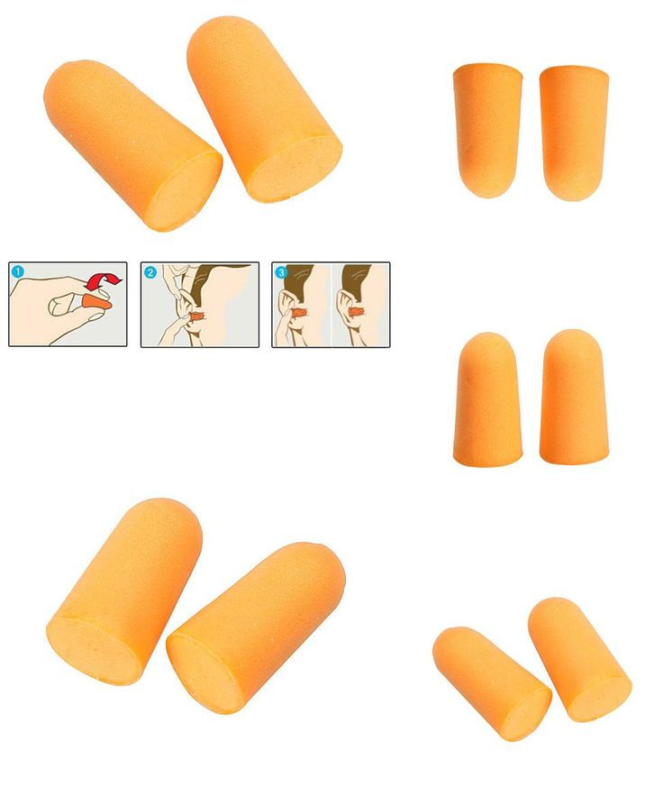 [Visit to Buy] 10Pairs Soft Foam Ear Plugs Tapered Travel Sleep Noise Prevention Earplugs HB88 #Advertisement