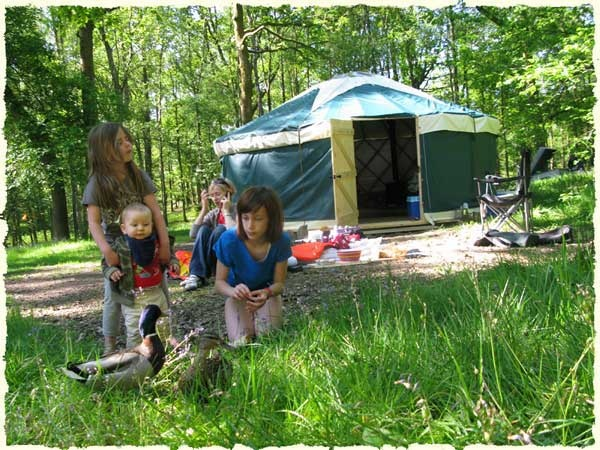 family glamping holiday luxury cool camping in a yurt ger lake district cumbria