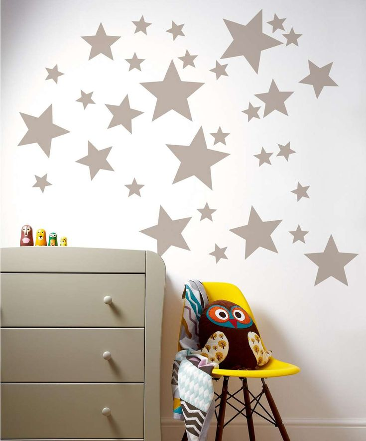 Patternology - Metallic Stars Wall Stickers - Patternology - Mamas & Papas  #mamasandpapas #dreamnursery