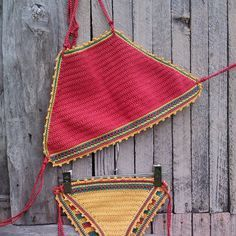 crochet bikini Red Jamaica - Crochet Vintage bikini, Crochet Boho bikini, Hippie…