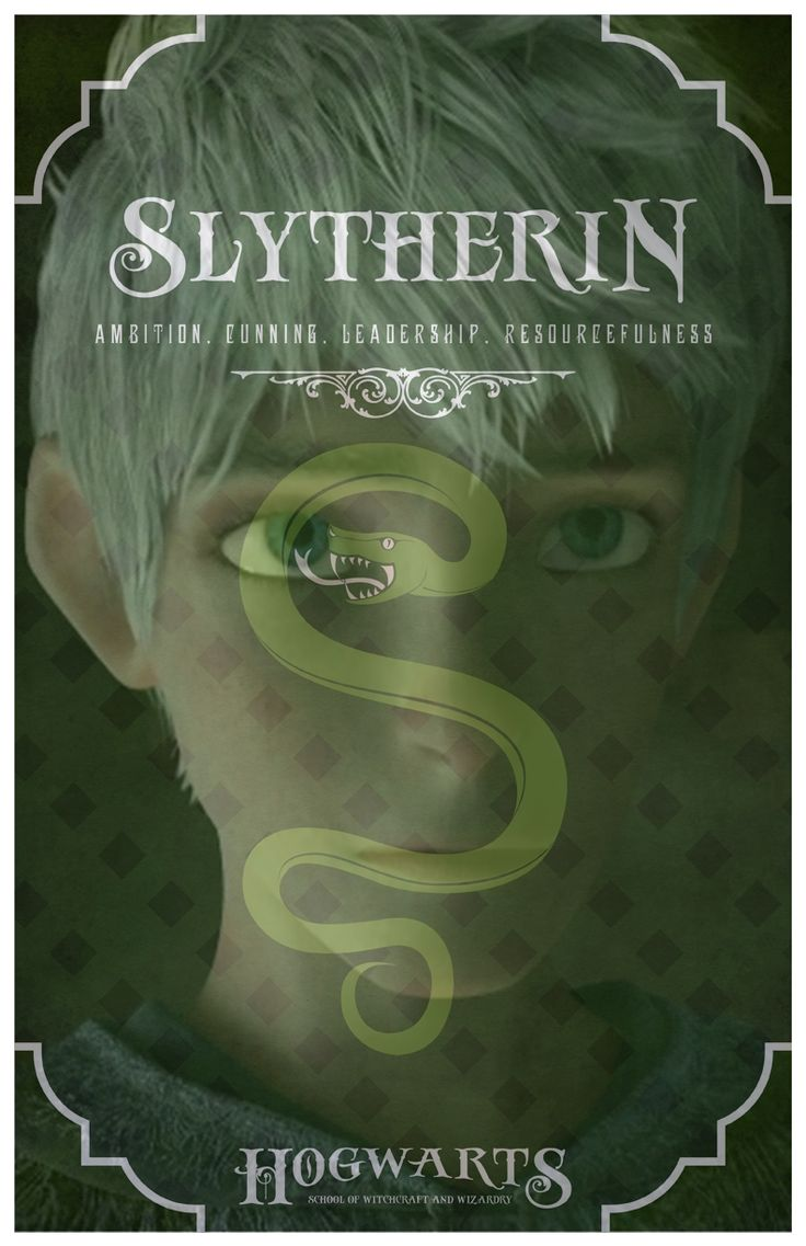 Jack Frost ( Rise of the Guardians ) Slytherin by SamUtada.deviantart.com on @deviantART