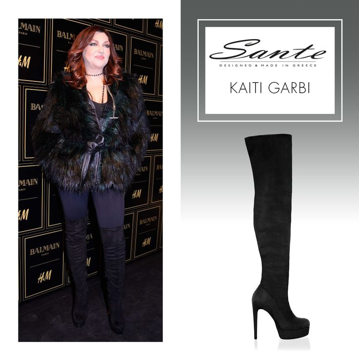 Kaiti Garbi in SANTE Over-the-knee Boots ‪#‎BuyWearEnjoy‬ ‪#‎CelebritiesinSante‬…