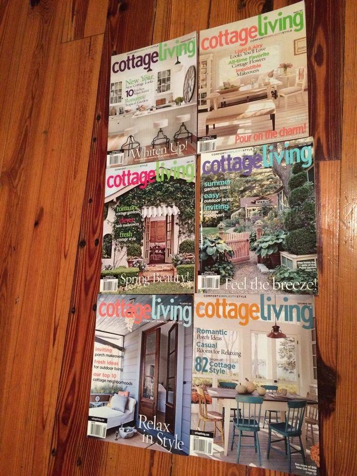 COTTAGE LIVING  Magazines lot of SIX Jan thru Sept. 2007 Home & Garden New Year