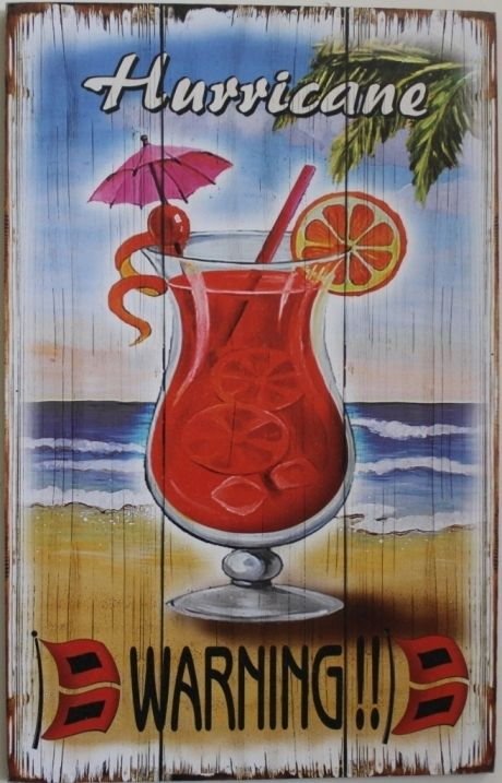 beach themed decor | WARNING sign plaque bar home office pub resturant beach theme decor