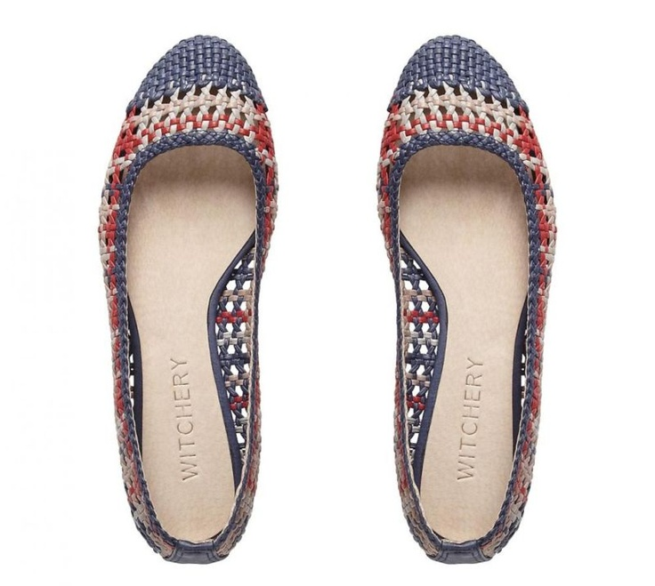 Isla Woven Ballet Flats in Multicolour from Witchery #witcherywishlist