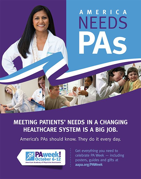 The PA Week posters have arrived! Download posters from the PA Week website and hang them in lobbies, classrooms, hallways and public spaces this year. Held every year from Oct. 6-12, National PA Week is a celebration of the PA profession and a chance to raise awareness about PAs. #PhysicianAssistants #PAWeek #AmericaNeedsPAs