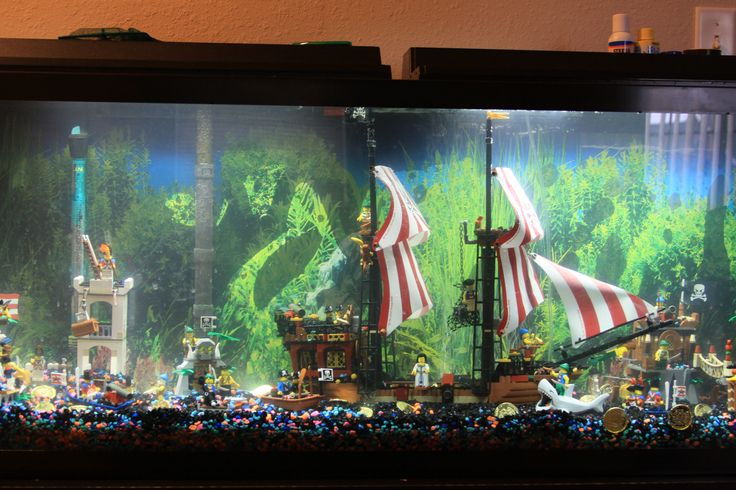 Pirate lego fish tank in my home fancy fish board for My fish tank