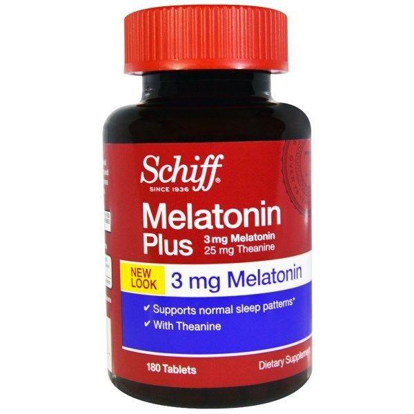 Schiff, Melatonin Plus, 3 mg, 180 Tablets   eBay