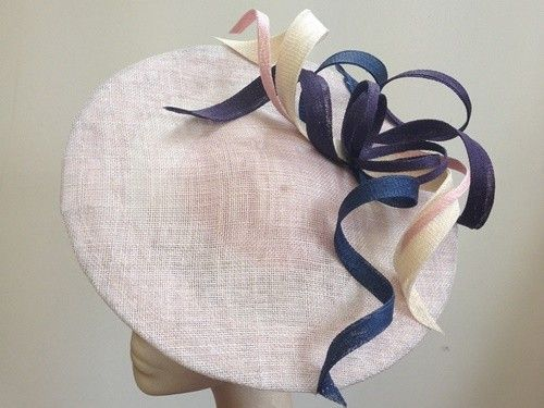 Latest Ascot Hats: Couture by Beth Hirst Pink Multi Twist Saucer (Price: £144.99)