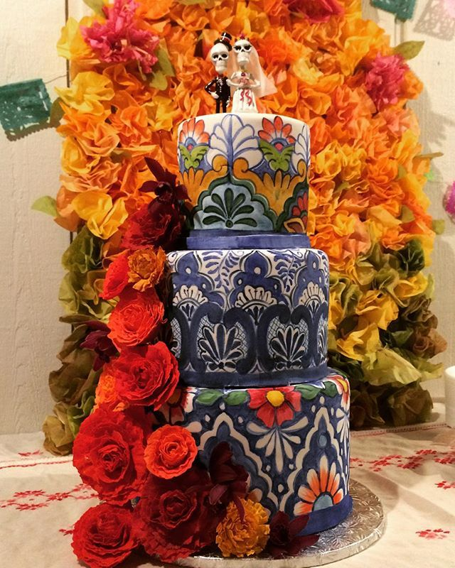 ❤️Brother Alex's Day of the Dead wedding cake❤️