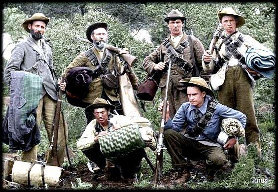 Boer fighters in the Boer War, 1899-1902.