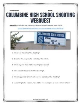 I'm writing a long essay on Columbine for school, I've a legal question?