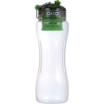 1L water bottle with a built-in filtration system, developed by NASA. There's videos of people pouring Coke into this and it coming out clear on the other side.
