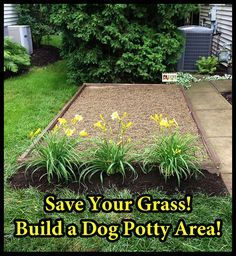 How to Build a Dog Potty Area -- A designated potty spot would make it easier to keep the lawn clean for the kiddo, and keep Kiley from getting as muddy when she has to pee on rainy days...