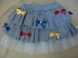 Molde para vestido de festa junina