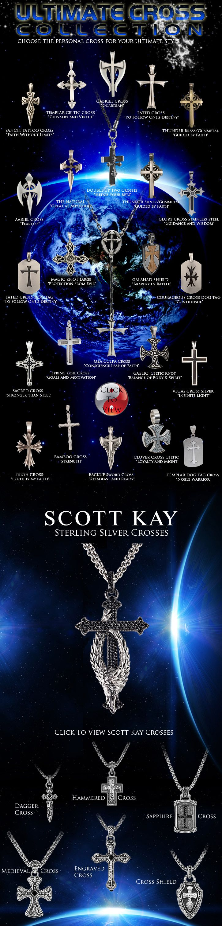 An awesome assortment of admirable crosses for men to wear.