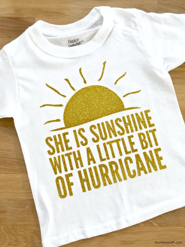 Do you have a spicy little lady in your life? Don't miss out on this fun sunshine and hurricane t-shirt and cut file. It's the perfect DIY.