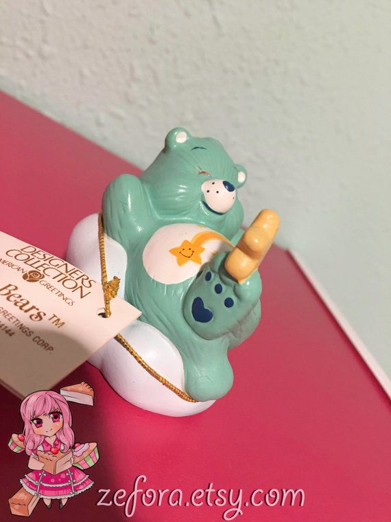 Wish Bear Vintage Care Bears Ceramic Collectible by zefora on Etsy