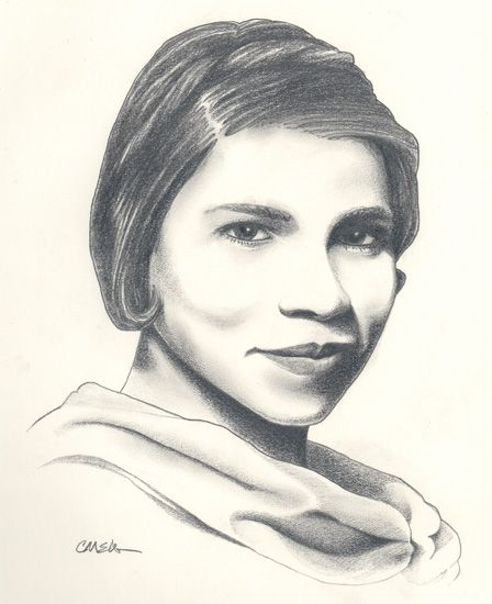 marian anderson drawing by christian elden