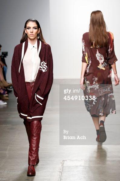 News Photo : model Bruna Marx wearing Salasai walks the runway during the...