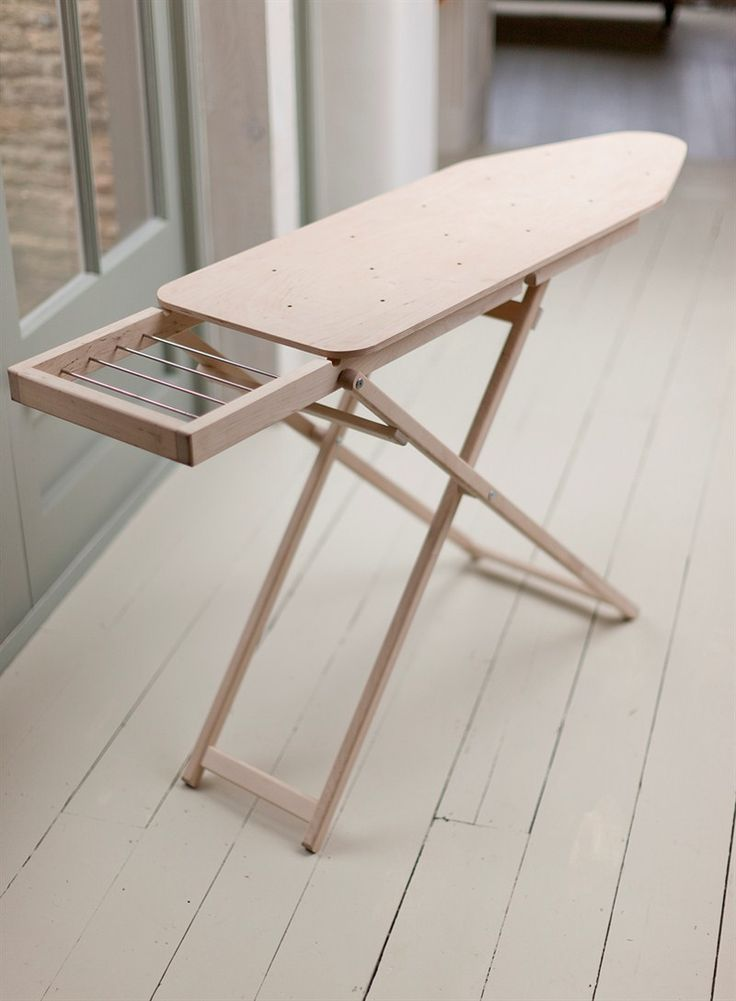 A perfectly proportioned solid wooden ironing board, complete with a generous sized ironing area making it a perfect alternative to the fickle metal built ironing boards that are so commonly used.