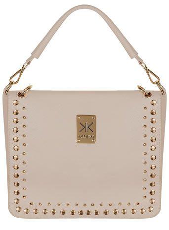 Kardashian Kollection cream flapover shoulder bag  #DPKK