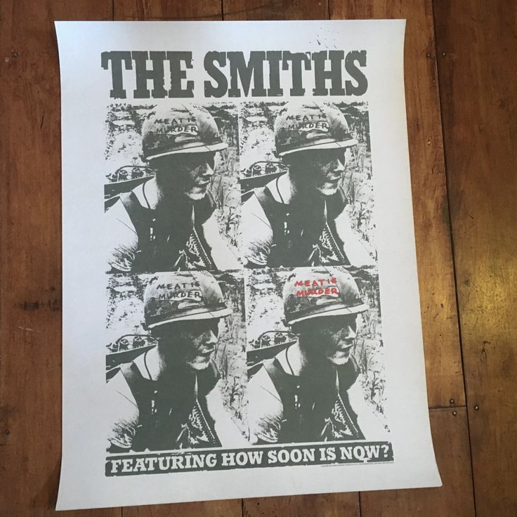 The Smiths Meat Is Murder Sire Records Rare Vintage Original 1985 Music Poster by RockPostersTreasures on Etsy