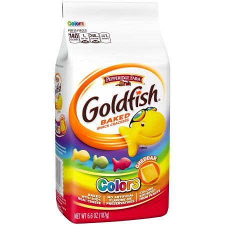 Free 2-day shipping on qualified orders over $35. Buy Pepperidge Farm Goldfish Cheddar Colors Baked Snack Crackers, 6.6 Oz at Walmart.com