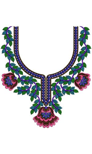 Creative Latest Neck Embroidery Design 13960