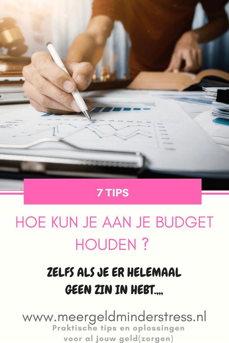 Hoe kun je toch aan je budget houden – zelfs als je er helemaal geen zin in hebt... 7 tips! - Meer geld, minder stress