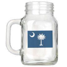 Patriotic Mason Jar with Flag of South Carolina
