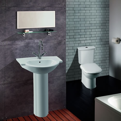 Linton Toilet and Large Basin Set as seen on Channel 4's You Deserve This House http://www.channel4.com/programmes/you-deserve-this-house