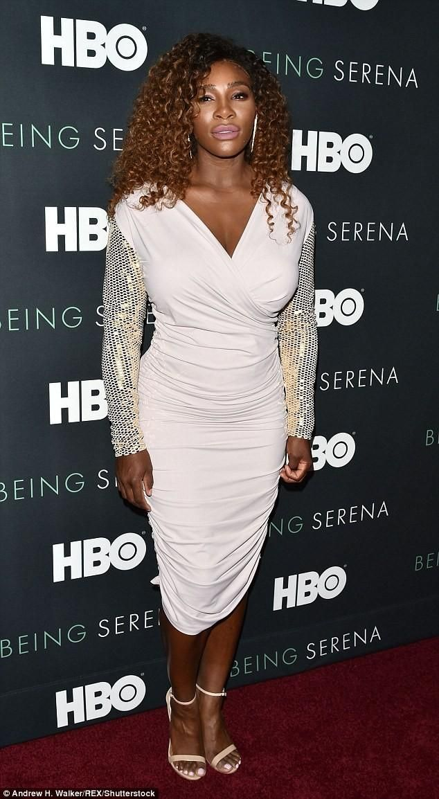 Serena Williams Stuns In White Bodycon Dress As She Attends The Premiere Of Her Hbo Doentary Photos