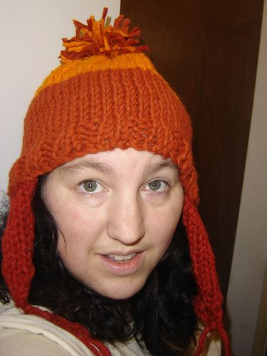 """Me, looking a little stunned, in my """"Ma Cobb Hat"""""""