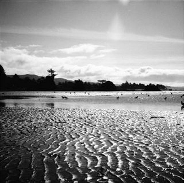 It may be low tide but it's the freakin weekend and we're pumped! #beach #sand #bw #blackandwhite #surf #surfer #sunset #sun #beachlife #hawaii