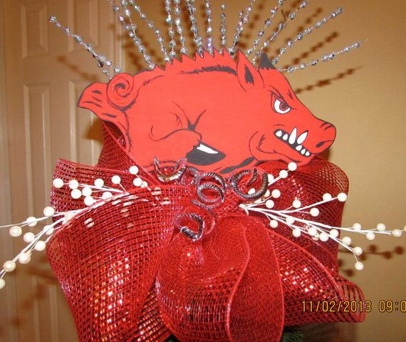 Arkansas Razorback Christmas Tree Topper by GodsLovingGrace, $30.00
