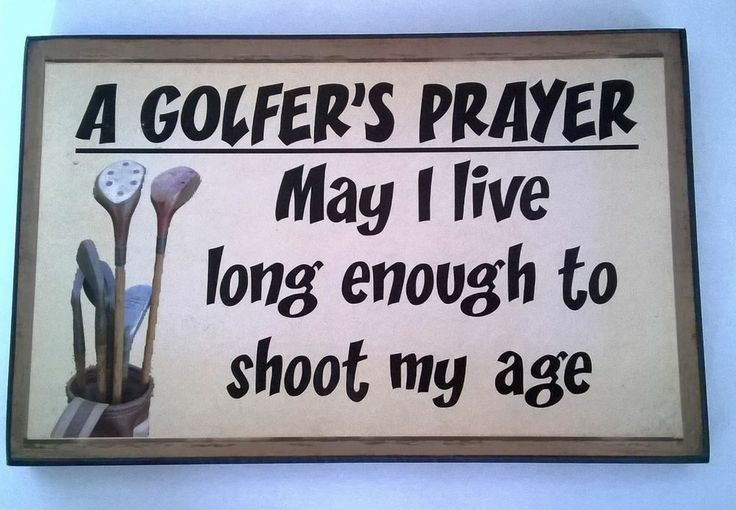 "Golf Plaque funny. ""A Golfer's Prayer""  250mm / 160mm"