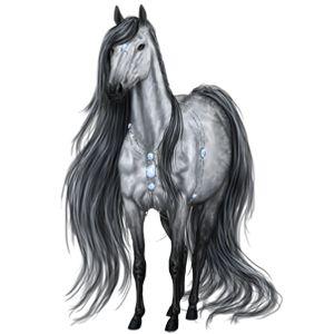 75 use Butterfly HOG, Riding Horse Hanoverian Light Gray #25 - Howrse