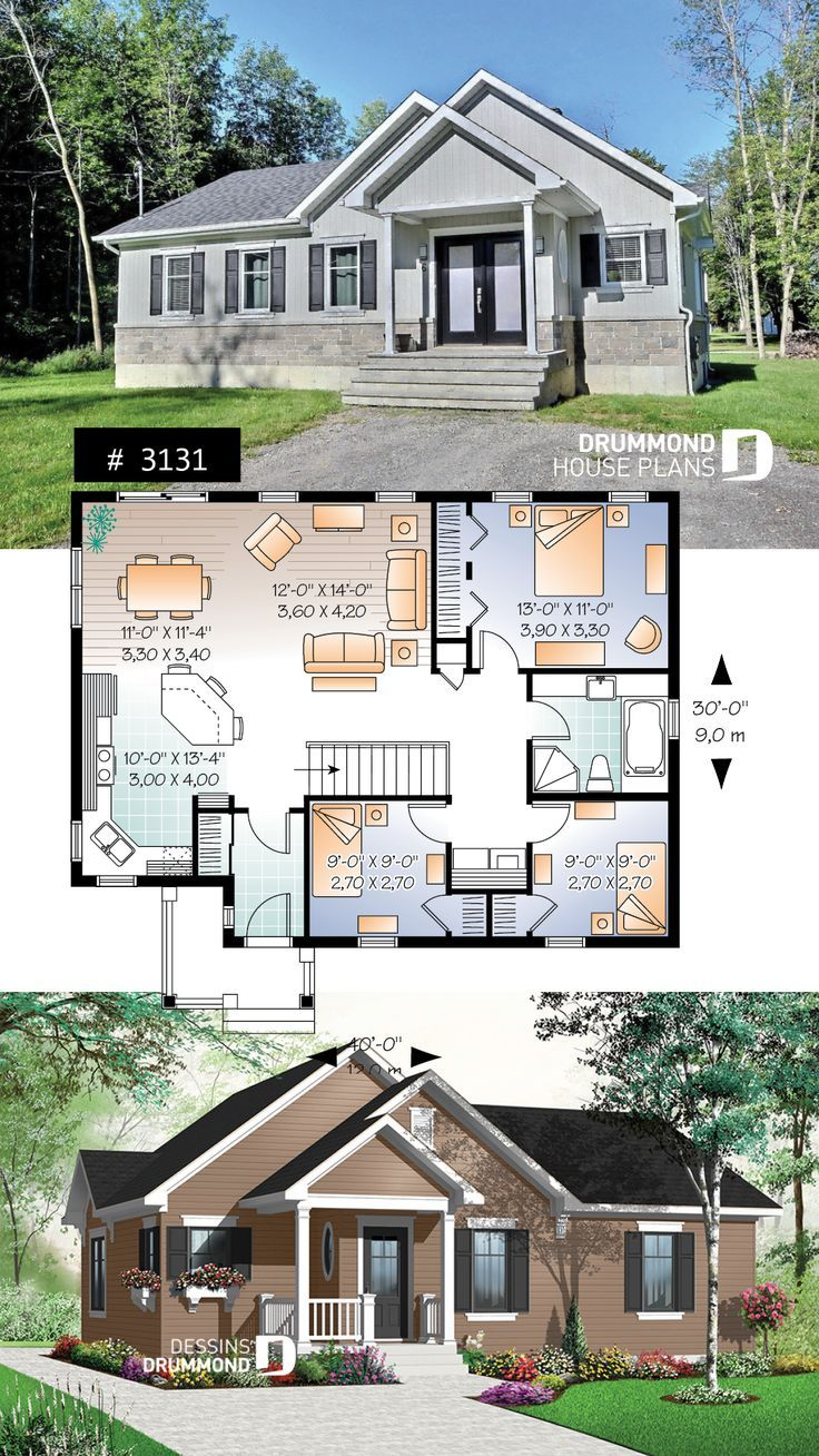 Land Erschwinglicher Hausplanbungalow Country Bungalow Houseplan Floorpla Bungalow Affordable House Plans Bungalow Floor Plans Bungalow House Plans