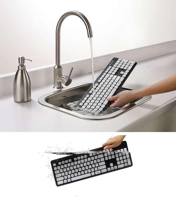 Llegó el teclado lavable http://www.lv7.com.ar/2012082366658/secciones/tecnologia/llego-el-teclado-lavable.htm  ______________________________  He washable keyboard http://www.lv7.com.ar/2012082366658/secciones/tecnologia/llego-el-teclado-lavable.htm