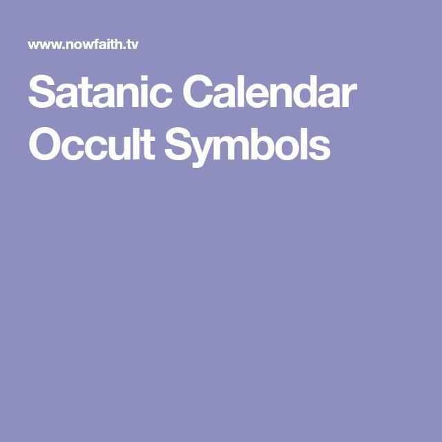 Satanic Calendar Occult Symbols