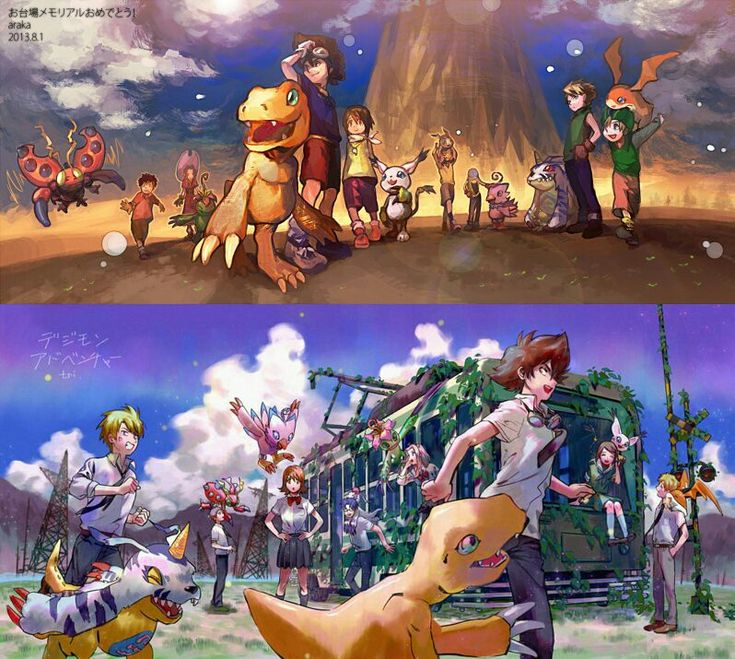 Digimon Adventure and Digimon Adventure Tri