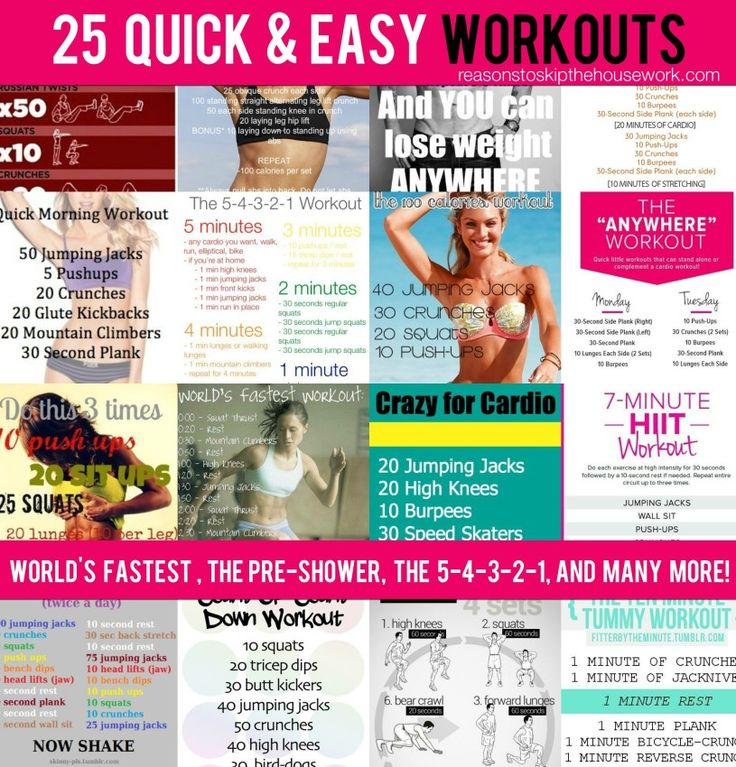 Quick and Easy Workouts you can do in a short amount of time!
