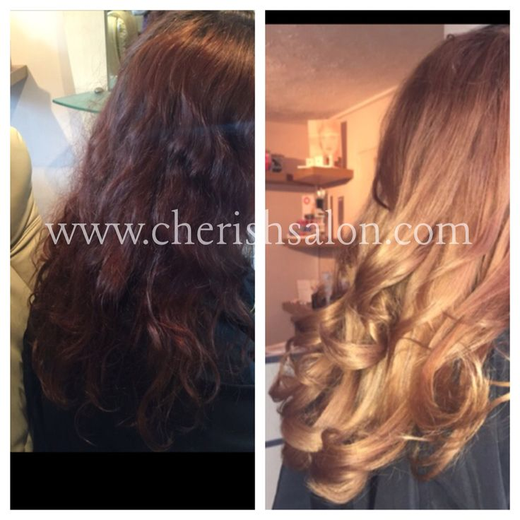 Colour change by louise at cherish. From red to subtle ombré. Our client was delighted. #ombre #tetbury #hairsalon #colourchange #beauty #cotswolds