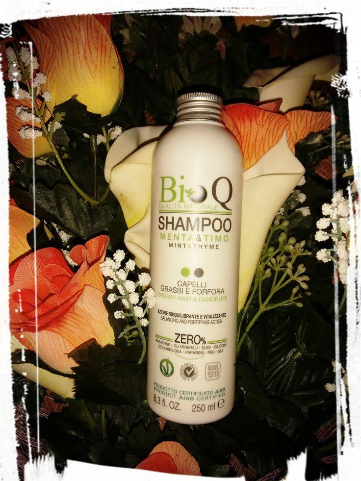 BioQ - SHAMPOO MENTA E TIMO capelli grassi e forfora