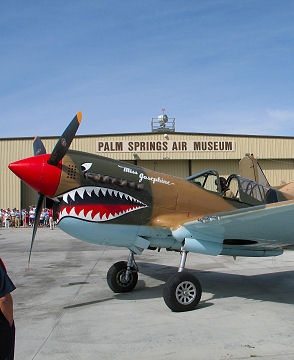 Reason 16 of 75 to Visit Palm Springs: See the largest collection of WWII planes at the Palm Springs Air Museum! Of course reason #1 is to go nude sunbathing at Palm Springs most popular and fun nude sunbathing resort and spa, Terra Cotta Inn!