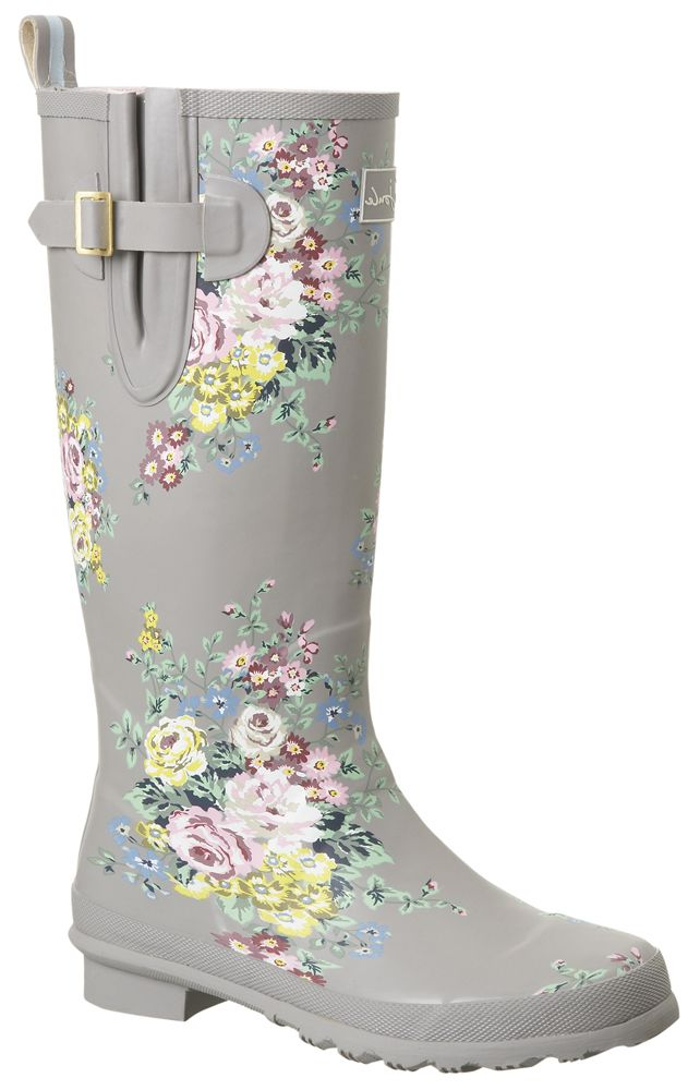 I could paint or decoupage flowers on planin boots for planting or wearing in the garden!