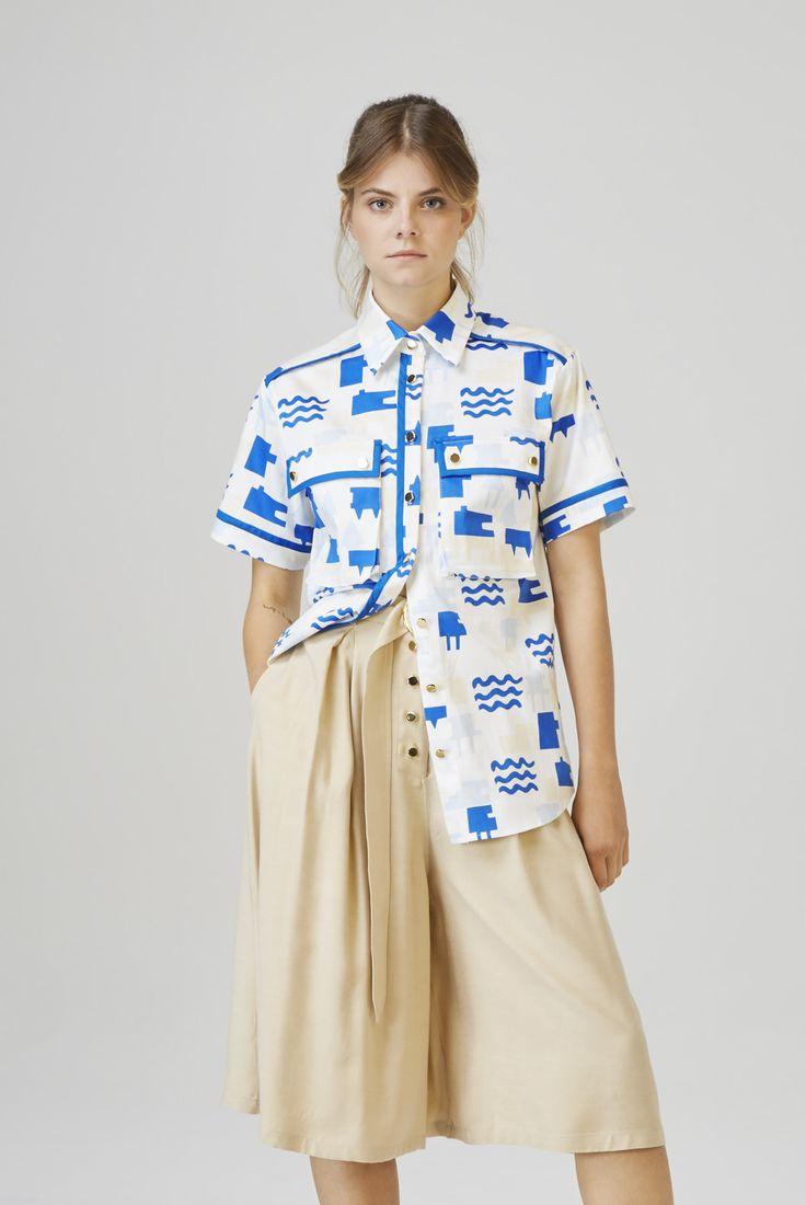 SIOFOK - oversized shirt  BOGLAR - high waist culottes