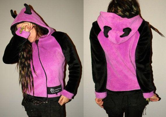 Devil hoodiesoft polyester furpunk by PandemoniumClothing on Etsy