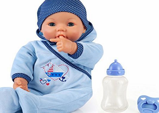 Bayer Design 9468300 46 cm ``Hello Baby Boy with Sounds Includes Pacifier and Bottle Move her Mouth`` Function Do No description (Barcode EAN = 4003336946833). http://www.comparestoreprices.co.uk/december-2016-week-1-b/bayer-design-9468300-46-cm-hello-baby-boy-with-sounds-includes-pacifier-and-bottle-move-her-mouth-function-do.asp